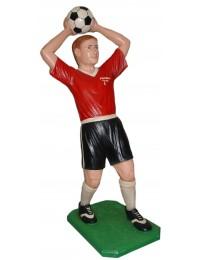 Fußballer rot Einwurf