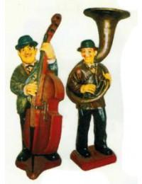 Dick und Doof spielen Cello und Sausaphone groß