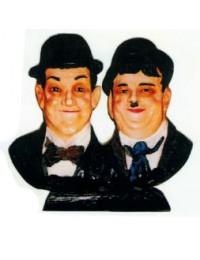 Dick und Doof Doppelbüste