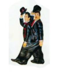 Dick und Doof zusammen in einer Hose klein