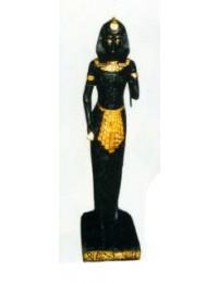 stehende Ägypterin Schwarz Gold