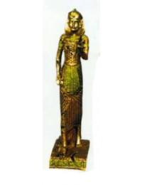 stehende Ägypterin Gold Grün