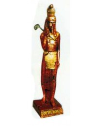 stehender Ägypterin Kupfer Gold