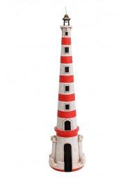 Leuchtturm rot weiß gestreift