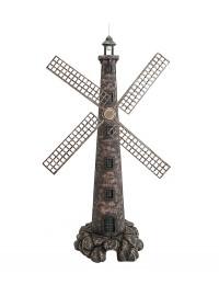 Windmühle auf kleinem Stein