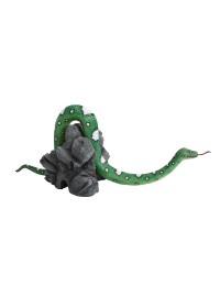 Grüne Schlange Loch seitlich