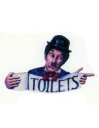 Toilettenschild mit Charlie Chaplin