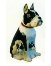 Bulldogge mit Welpen