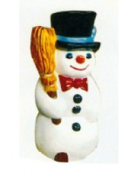 kindlicher Schneemann mit Besen