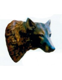 Hundekopf mit Wandhalterung