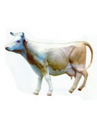 Milchkuh lebensgroß weiß beige