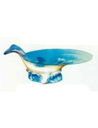 Glastisch mit schwimmenden Delfin
