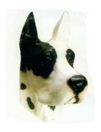 Hundekopf schwarz weiß