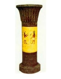 ägyptische Säule halbhoch mit Hieroglyphen