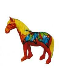 kleines Pferd mit Schmetterlinge bemalt