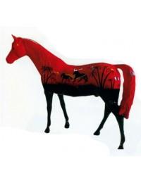 großes Pferd mit romantischem Sonnenuntergang bemalt