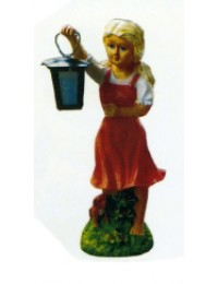 kleines Mädchen mit Laterne