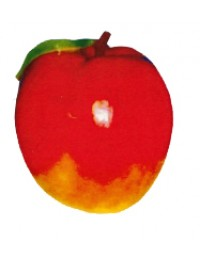 großer roter Apfel