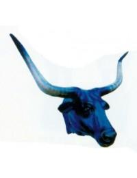 Langhornbullenkopf schwarz