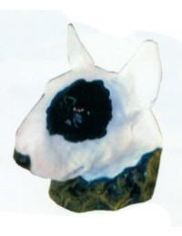 Bullterrierkopf Kampfhund