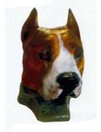Bullterrierkopf braun Kampfhund