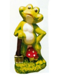 stehender Frosch Comic