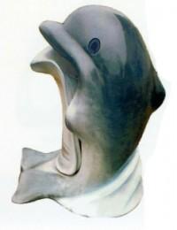Delfin grau als Mülleimer