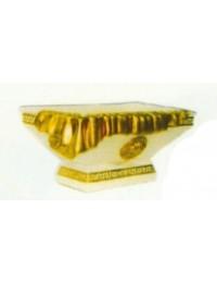 Gold verziertes Gefäß rechteckig