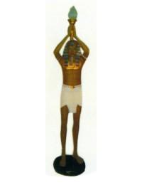 Ägypter als Fackelträger mit Lampe