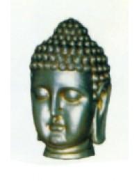 silberner Buddha Kopf groß