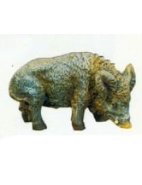 kleines Wildschwein schnüffelt