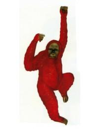 hängender Affe mit rotbraunem Fell