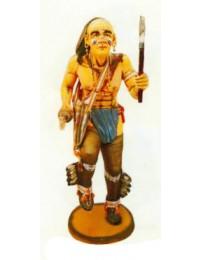 großer Indianerkrieger mit Beil tanzend