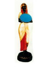 lebensgroße Ägypterin mit Spiegel