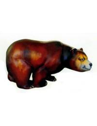 großer gemütlicher Braunbär