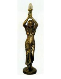 ägyptische Stehlampe goldene Frau