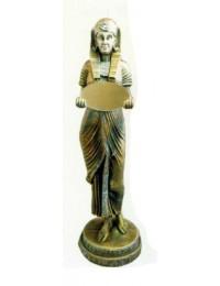 Ägypterin mit Spiegel gold silber