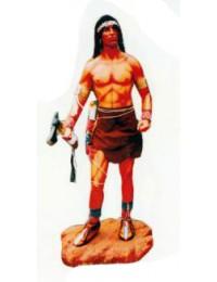 Indianerkrieger mit Beil