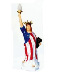 mittlere amerikanische Freiheitsstatue mit Lampe