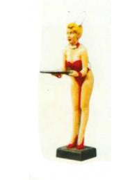 Bunnykellnerin mit Rotem Bikini