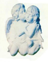 Engel Junge und Mädchen küssend