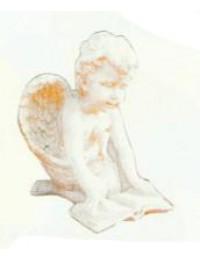 Engel sitzt auf Knien und ließt Buch