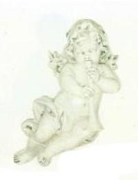 antiker Engel mit Trompete
