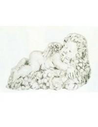 schlafender antiker Engel in Trauben