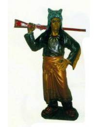 kleiner Indianer als Jäger mit Gewehr