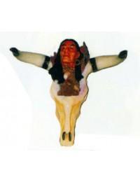 Büffelschädel mit Indianerkopf Variante 1