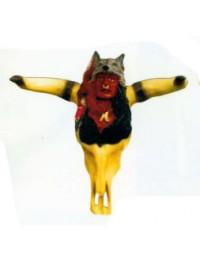 Büffelschädel mit Indianerkopf Variante 2