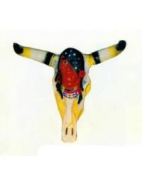 Büffelschädel mit Indianerkopf Variante 4
