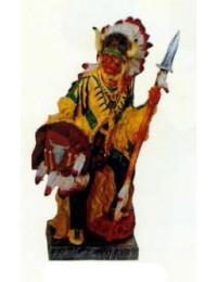 Indianerhäuptling mit Jagdausrüstung klein