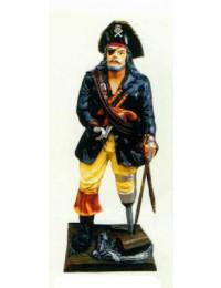 Piratencapitän mit Holzbein klein